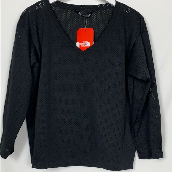 The North Face Tops - NWT The North Face black mesh cropped top Lg